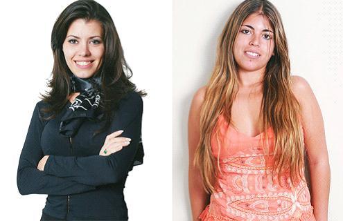 Samantha Moraes (Esquerda) e Bruna Surfistinha (Direita).